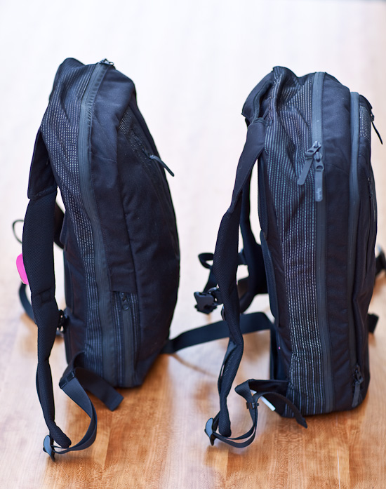 Carrying capacity of the two Backpacks