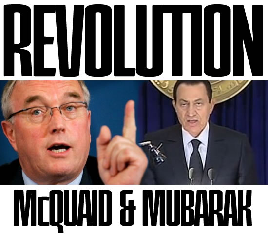 Revolution - McQuaid and Mubarak