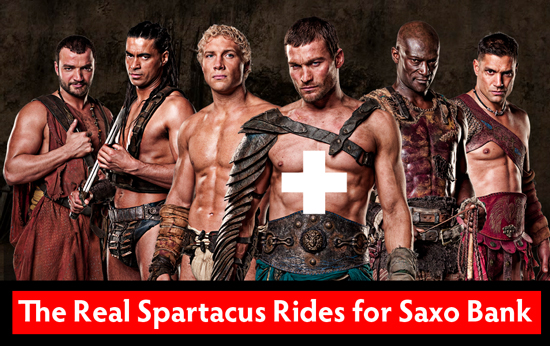 The Real Spartacus Rides for Saxo Bank; but this guy is pretty good too