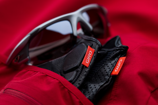 Peaking out from my Rapha LW Softshell Jacket are a pair of Giro LX long-fingered gloves