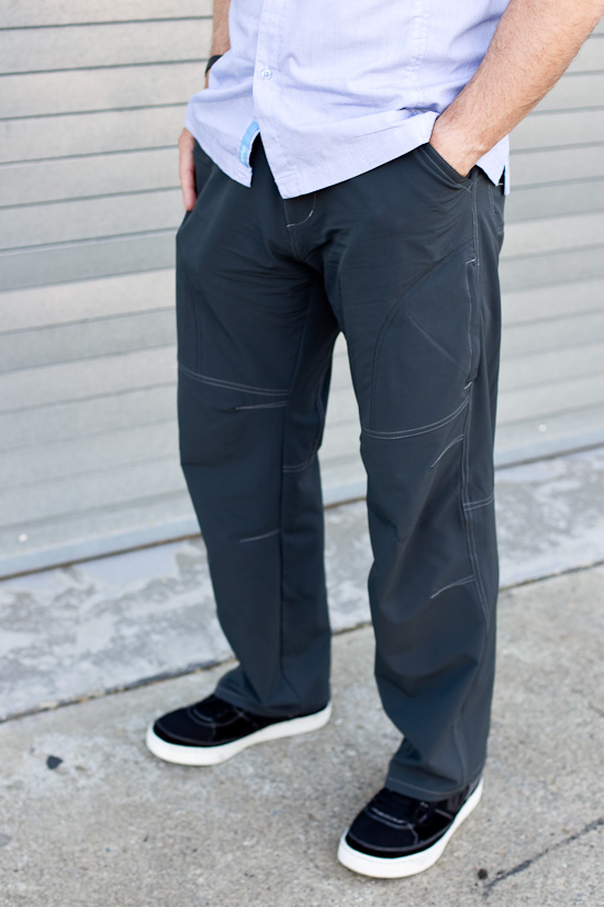 Rapha Short Sleeve Shirt, Kuhl Renegade trousers and five ten spitfire shoes