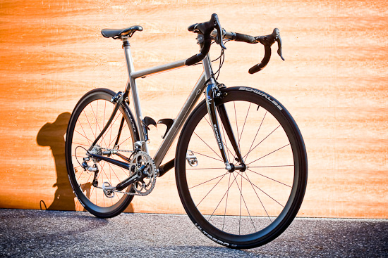 Enigma Eulogy wearing Edge Composites Clinchers