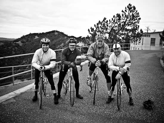 The Four Horseman wearing Three Rapha Rainjackets