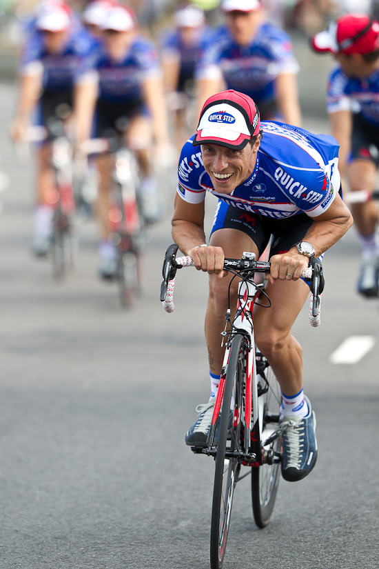 Sylvain Chavanel in the tuck