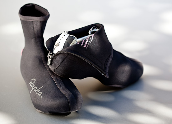 Save time by leaving the overshoes on a pair of shoes right through the winter