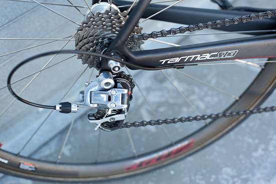 New chain stays efficiently transfer SL3 power to the Red components in the back